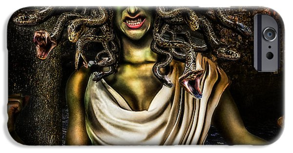 Medusa iPhone Cases - Medusa iPhone Case by Alessandro Della Pietra