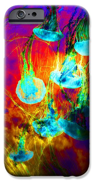 Medusas On Fire 5D24939 square iPhone Case by Wingsdomain Art and Photography
