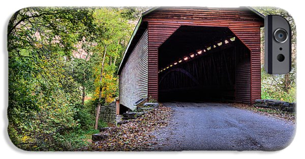 Covered Bridge iPhone Cases - Meems Bottom iPhone Case by JC Findley