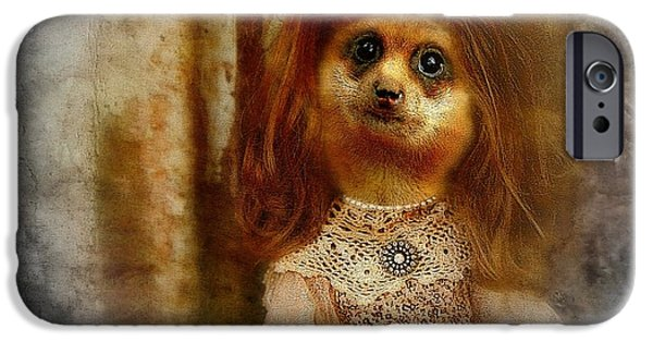 Meerkat Digital Art iPhone Cases - Meerkat iPhone Case by Tisha McGee