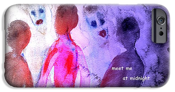 Nature Study Paintings iPhone Cases - Meet Me At Midnight iPhone Case by Hilde Widerberg