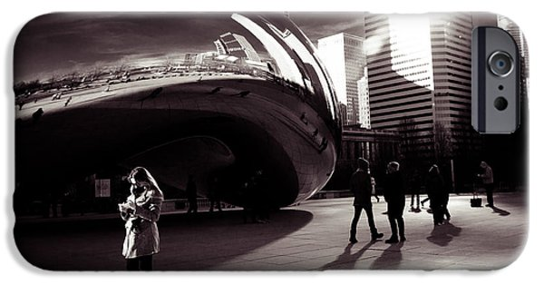 Friends Meeting iPhone Cases - Meet Me At The Bean iPhone Case by Lauri Novak