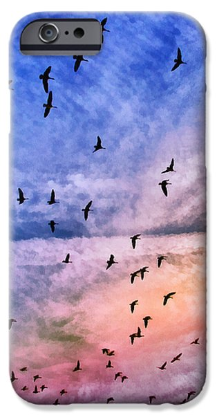 Meet Me Halfway Across The Sky 2 iPhone Case by Angelina Vick