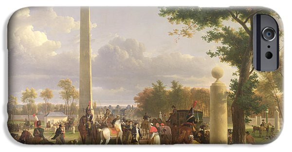 Of Power iPhone Cases - Meeting between Napoleon I and Pope Pius VII iPhone Case by Alexandre Hyacinthe Dunouy