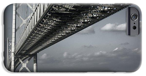 Kobe Photographs iPhone Cases - MEGABRIDGE AKASHI KAIKYO of JAPAN iPhone Case by Daniel Hagerman