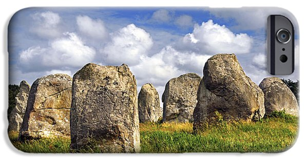 Monolith iPhone Cases - Megalithic monuments in Brittany iPhone Case by Elena Elisseeva