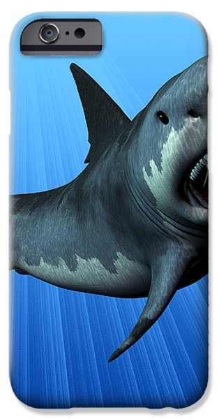 Megalodon iPhone Case by Corey Ford