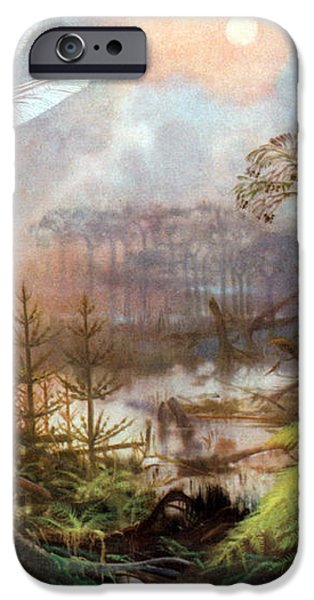 Meganeura In Upper Carboniferous iPhone Case by Science Source