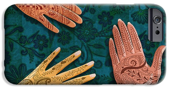 Henna iPhone Cases - Mehndi iPhone Case by Bedros Awak