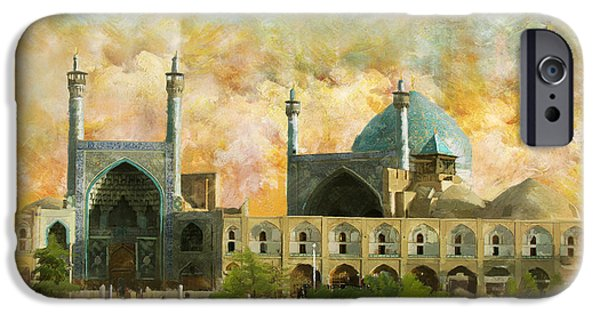 Culture Paintings iPhone Cases - Meidan Emam Esfahan iPhone Case by Catf