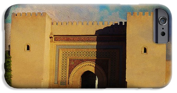 Historic Site Paintings iPhone Cases - Meknes iPhone Case by Catf