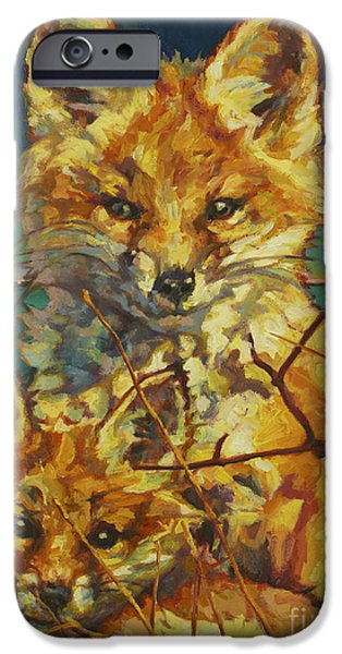 Litter Mates iPhone Cases - Mel And Todd iPhone Case by Patricia A Griffin