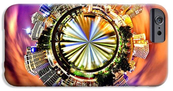 Business Photographs iPhone Cases - Melbourne City Skyline Circagraph iPhone Case by Az Jackson