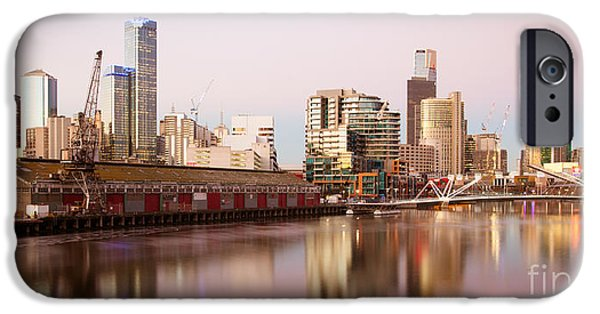 Fed iPhone Cases - Melbourne Skyline From South Wharf iPhone Case by Chris Putnam