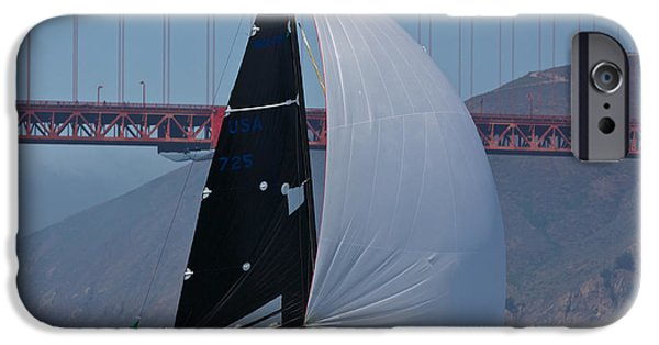 Sausalito iPhone Cases - Melges 24 at The Gate iPhone Case by Steven Lapkin