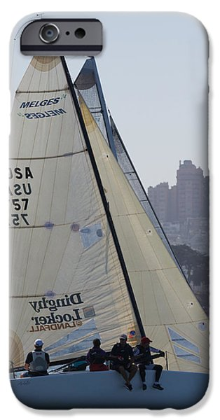 Sausalito iPhone Cases - Melges 24 San Francisco iPhone Case by Steven Lapkin