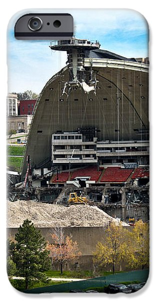 Mellon Arena Partially Deconstructed iPhone Case by Amy Cicconi