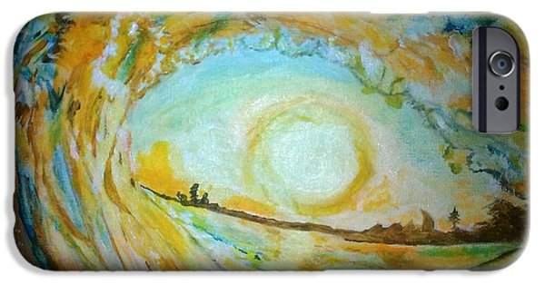 Michelle iPhone Cases - Mellow Yellow iPhone Case by Michelle Reid
