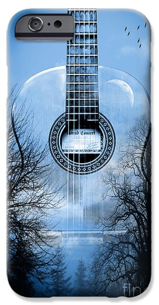 Animation iPhone Cases - Melody Mystic Night  iPhone Case by Mark Ashkenazi