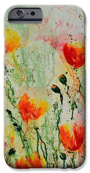 Ismeta iPhone Cases - Melody of Spring- Flower iPhone Case by Ismeta Gruenwald