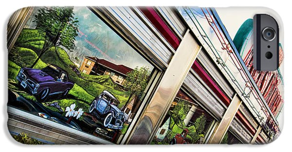 Stainless Steel iPhone Cases - Mels Diner iPhone Case by Cindy Tiefenbrunn