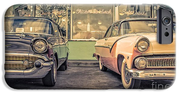 Joints iPhone Cases - Mels Drive-In iPhone Case by Edward Fielding