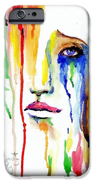 Crying Paintings iPhone Cases - Melting Dreams iPhone Case by P J Lewis