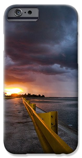 Yellow Line iPhone Cases - Melting point iPhone Case by Davorin Mance