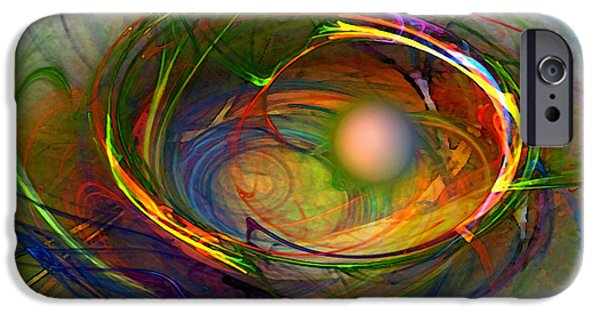 Lyrical iPhone Cases - Melting Pot-Abstract Art iPhone Case by Karin Kuhlmann