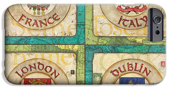 Maps Paintings iPhone Cases - Melting Pot Patch iPhone Case by Debbie DeWitt