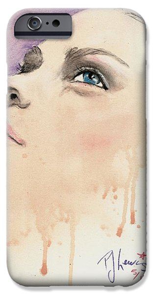 Beautiful Faces iPhone Cases - Melting Youthful Beauty iPhone Case by P J Lewis