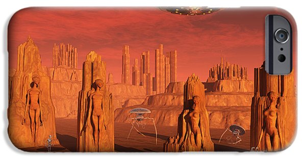 Strange iPhone Cases - Members Of The Planets Advanced iPhone Case by Mark Stevenson