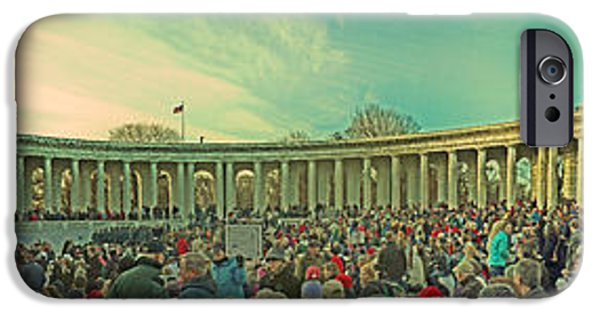 D.c. iPhone Cases - Memorial Amphitheater at Arlington National Cemetery iPhone Case by Tom Gari Gallery-Three-Photography