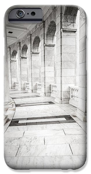 D.c. iPhone Cases - Memorial Amphitheater Corridor - Arlington National Cemetery  iPhone Case by Gary Whitton