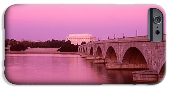 Lincoln iPhone Cases - Memorial Bridge, Washington Dc iPhone Case by Panoramic Images