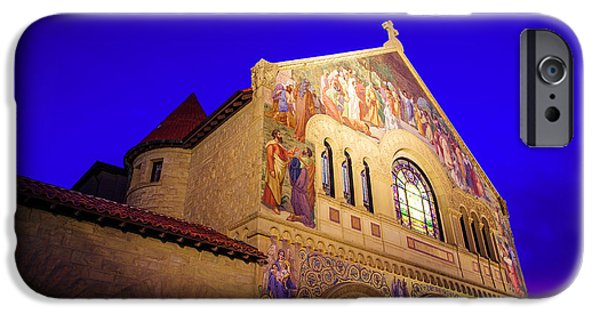 Quad iPhone Cases - Memorial Church Stanford University iPhone Case by Scott McGuire