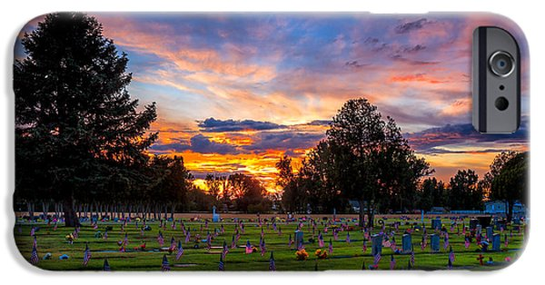 Haybale iPhone Cases - Memorial Day Remembrance iPhone Case by Robert Bales