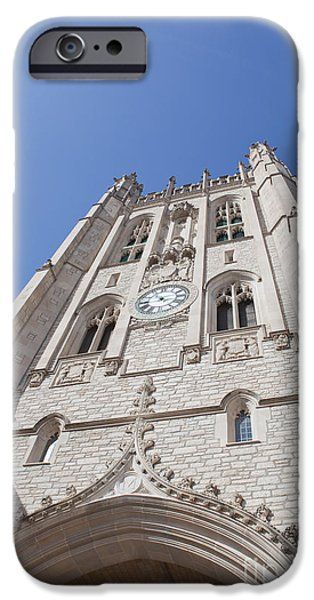 Kaypickens.com iPhone Cases - Memorial Union Clock Tower iPhone Case by Kay Pickens