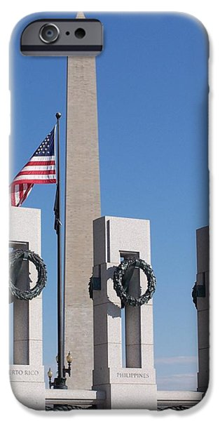 Old Glory iPhone Cases - Memorials of D.C. iPhone Case by Jewels Blake Hamrick