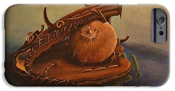 Softball Paintings iPhone Cases - Memories iPhone Case by Joy Bradley