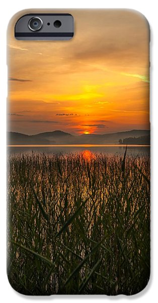 Sunset In Norway iPhone Cases - Memories Of A Sunset 2 iPhone Case by Rose-Maries Pictures