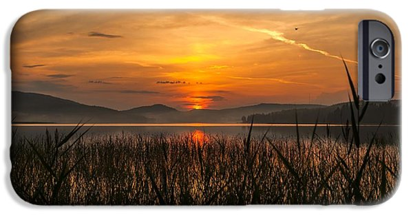 Sunset In Norway iPhone Cases - Memories Of A Sunset iPhone Case by Rose-Maries Pictures