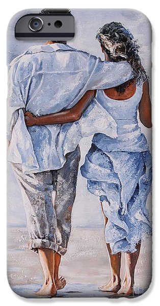 Togetherness iPhone Cases - Memories of love iPhone Case by Emerico Imre Toth