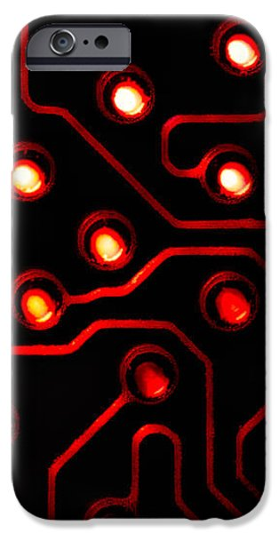 Memory Chip BWR iPhone Case by Bob Orsillo
