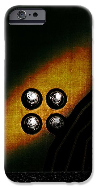 Memory Chip Number Three iPhone Case by Bob Orsillo