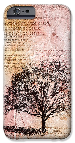 Tree Art Print iPhone Cases - Memory Lane iPhone Case by Gary Bodnar