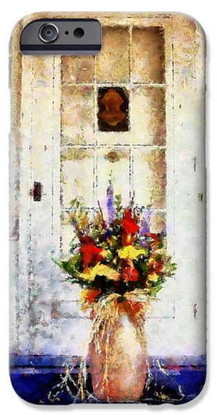 The Houses Mixed Media iPhone Cases - Memory Lane iPhone Case by Janine Riley