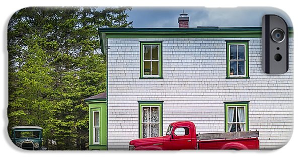 Old Cars iPhone Cases - Memory Lane iPhone Case by Ken Morris