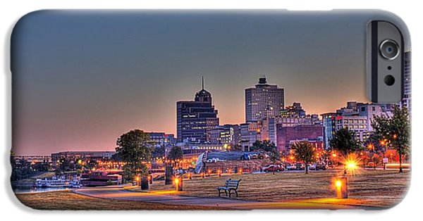 Printed Cotton iPhone Cases - Cityscape - Skyline - Memphis at Dawn iPhone Case by Barry Jones
