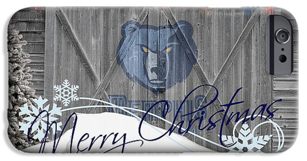 Dunk iPhone Cases - Memphis Grizzlies iPhone Case by Joe Hamilton